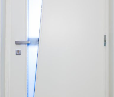 Vhodna vrata belo lakirana