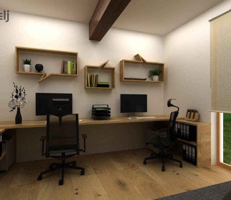 oblikovanje prostora - pisarna