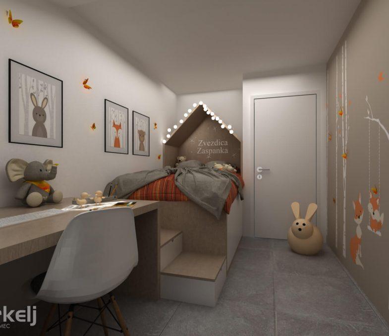 3d izris otroške sobe