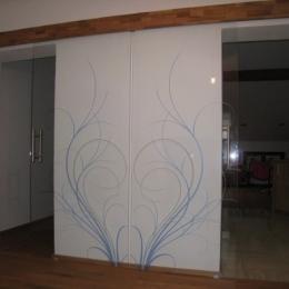dvojna steklena drsna vrata