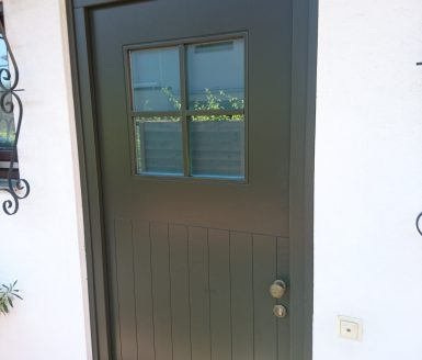 vhodna vrata steklo s križem