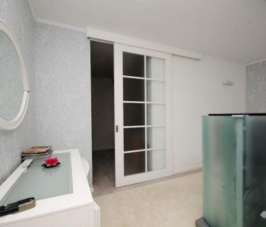 drsna bela vrata s steklom